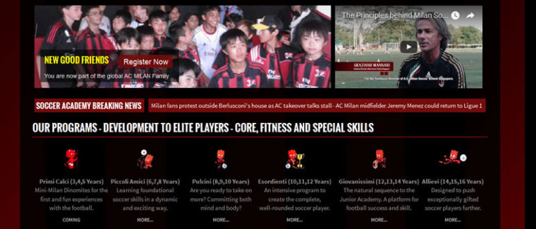 Italian Youth Soccer Academy Training In Singapore