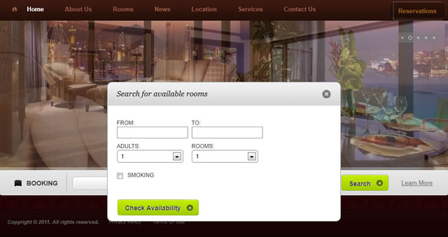 Online hotel reservation web web design in pattaya for Hotel web design