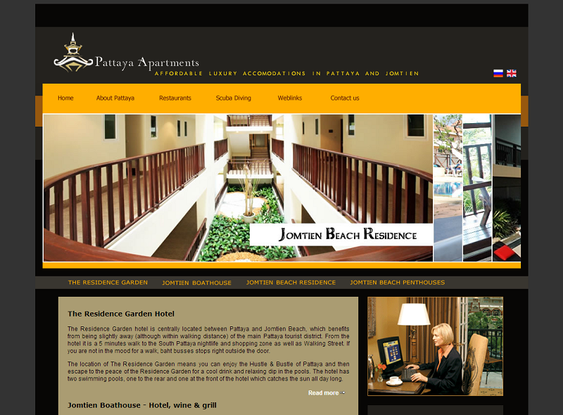 Pattaya Appartments Web Design In Pattaya
