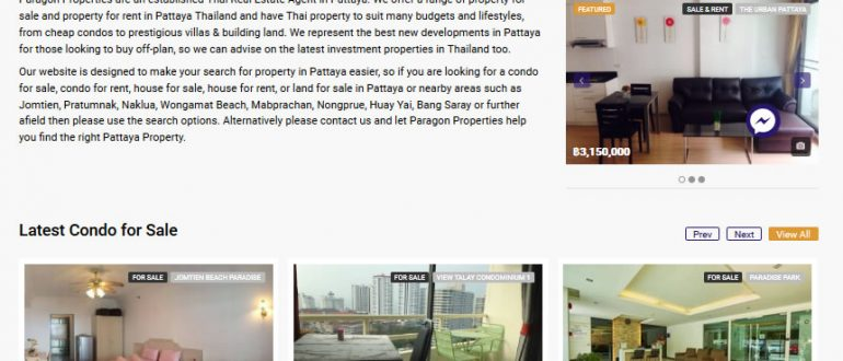About Paragon Properties. We provide a range of property related services throughout Pattaya and the wider Eastern Seaboard, all tailored to suit your own specific requirements. Contact Us. /32 Thappraya road, Moo 12, Nongprue, Banglamung, Chonburi , Thailand +66 33 ;.